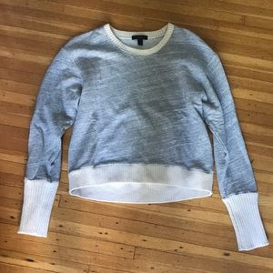 J crew cropped sweatshirt
